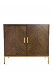 Front on image of the Parquet Style Wooden Sideboard Unit on a white background