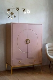Lifestyle image of the Fabulous Pink Drinks Cabinet with the doors closed