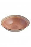 Image of the Rose Pink Pottery Bowl on a white background