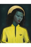 Image of the Unframed Ross Muir Limited Edition Green Lady Art Print
