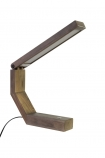 Image of the Unique Design Wooden LED Table Task Lamp open on a white background