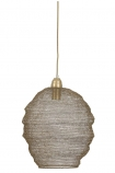 cutout image of Beehive Antique Bronze Chain Pendant Light on white background