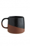 cutout Image of the Two-Tone Black & Terracotta Mug on a white background