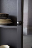 detail image of door on Black Pine Display Cabinet