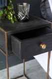 Close-up image of the drawer on the Halcyon Bedside Table With Drawer