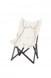 Image of the Booby Lady Butterfly Deck Chair on a white background