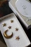Image of the Moon & Stars Candle Decoration in their presentation box