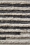 detail image of pattern and texture on Bengal Black & Natural Cotton Rug