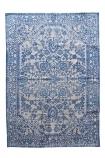 Chennai Ocean Blue Cotton Dhurrie Rug