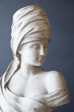 detail image of Roman Greek Style Lady Bust - Stone Effect with dark wall background
