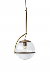 Glass Globe Ceiling Light on white background