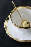 Gold Rim Shell Teacup & Saucer
