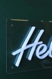 Hell Yeah! LED Neon Light - White