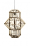cutout Image of the Lantern Shape Bamboo Pendant Light on a white background