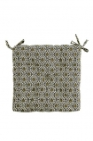 Image of the Olive Green Leaf Seat Pad Chair Cushion on a white background