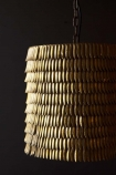 Close-up image of the Metallic Feather Effect Pendant Light