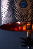 Mind The Gap Peacock Feathers Lamp Shade
