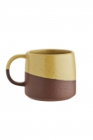 Image of the Two-Tone Ochre & Terracotta Mug on a white background