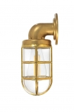 cutout Image of the Nautical Inspired Brass Bulkhead Down Wall Light on a white background