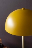 Close-up image of the shade on the Art Deco Canopy Table Lamp - Ochre Gold