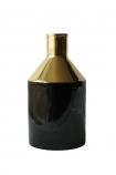 Onyx & Gold Bottle Vase