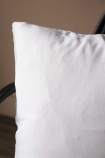 Peace Hand Glamorous Beaded Cushion - White