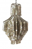 Shimmering Shell Disc Chandelier