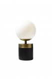 cutout Image of the Atlas Globe Table Lamp With Black & Brass Base on a white background