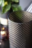 Smoked Glass & Gold Diamond Stud Vase