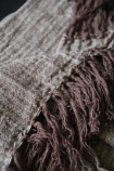 Ash Brown Linen Throw