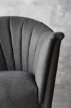 detail image of The Lovers Herringbone Tweed Chair - Homme Grey with grey wall background