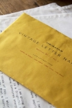 Set Of 4 Vintage Letter Napkins: Love Letters From Honore De Balzac, Lord Byron, James Joyce & John Keats