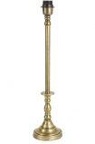 cutout image of Traditional Candlestick Style Antique Bronze Table Lamp Base on white background