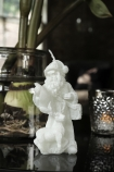 Image of the small Father Christmas with Reindeer Candle