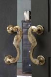 Set Of 2 Curved Peacock Door Handles