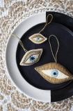 Set Of 3 Beaded Eyes Hanging Decorations