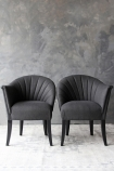 The Lovers Herringbone Tweed Chair - Homme Grey