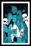 cutout image of Unframed Star Wars Fine Art Print in black frame
