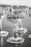 Set Of 6 Vintage Style Crystal Champagne Saucers - Lens