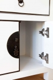 Image showing the inside of one of the cupboards on the Oriental Gloss White Sideboard
