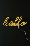 Yellow Hello Neon Light