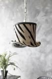 Zebra Top Hat Pendant Light