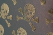 Beware the Moon Wallpaper - Skulls - Bronze on Oil Slick