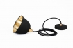 cutout image of Miniature Bell Brushed Brass & Dusky Matte Black Ceiling Light on white background