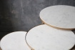 Round Nest Of 3 Marble Side Tables landscape on dark grey background detail image