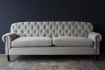 Full image of the Soft Grey Modern Chesterfield 3 Seater Sofa