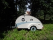 Vintage Style Retro Caravan