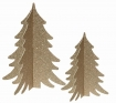 Image of the Set Of 2 Paper Christmas Trees on a white background