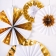 Set Of 4 Foil Giant Pinwheel Decorations - Gold