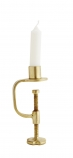 cutout image of Gold Clamp Candle Holder on white background